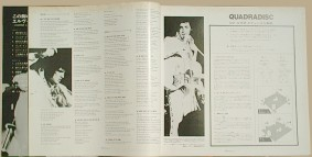 inside the cover - lyrics on the left and Quadradisc directions on the right